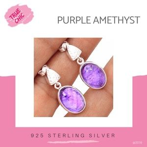 Jewelry - Amethyst & Sterling Earrings